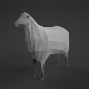3d sheep ewe ready model