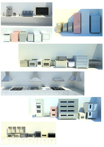 revit kitchen appliances family 3d model