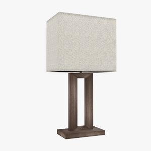 3d model modern table lamp