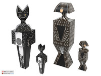 vitra Wooden Dolls Cats Dogs
