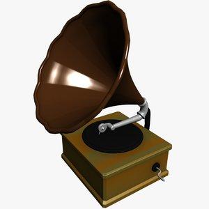 max gramaphone victrolla record