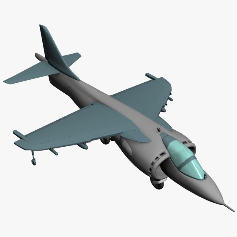 3d model harrier jet