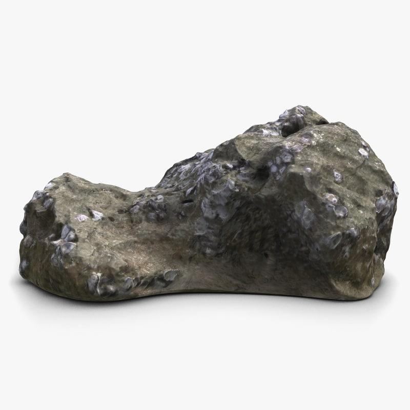 3d model coral rock 2