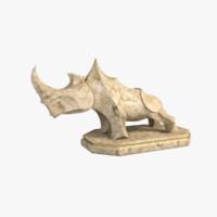 Rhinoceros Statuette Marble
