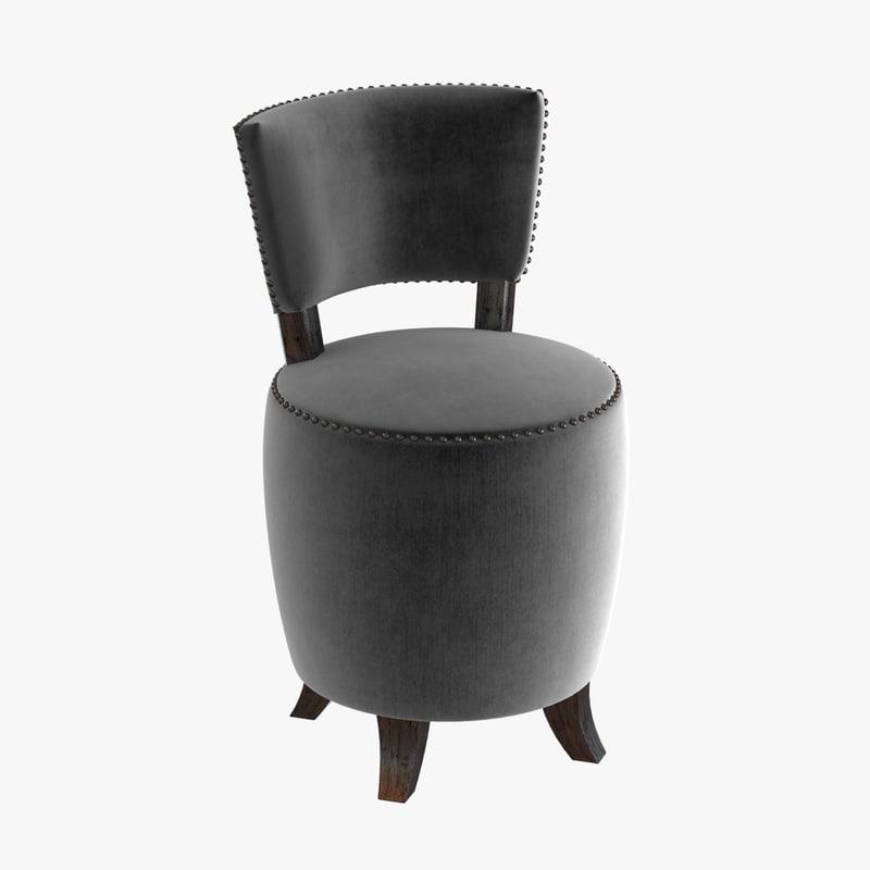 3d chair small velvet