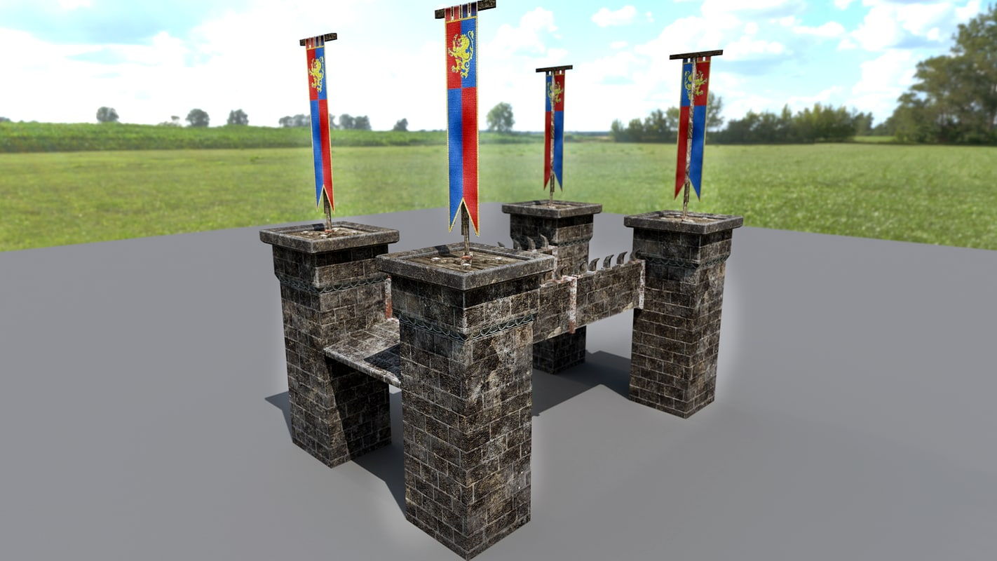 3d bridges flag model