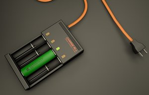 3d model 18650 battery charger