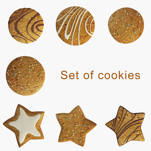 3d model set cookies