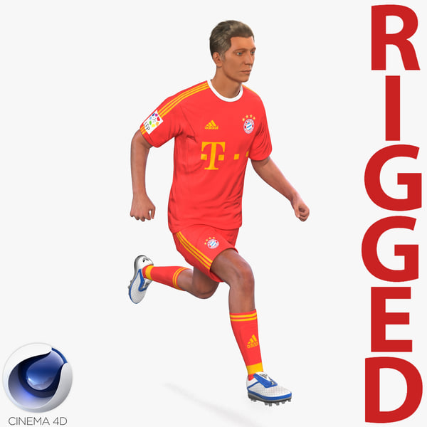 soccer player bayern rigged c4d