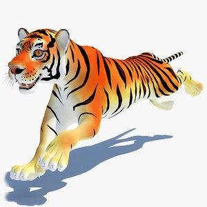 cartoon tiger cat animation 3d max
