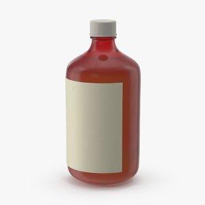 3d model cough-syrup-bottle