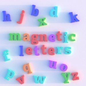 magnetic letters 3d model
