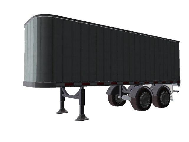 trailer semi truck 3d model