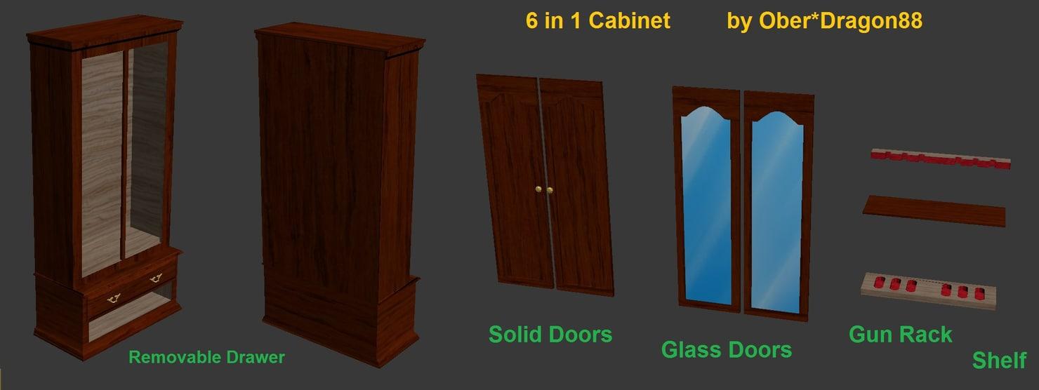 6 1 cabinet 3d model