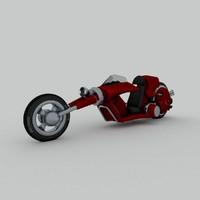 3d model of roach bike