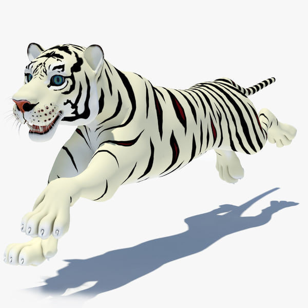 cartoon tiger white cat 3d max