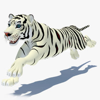 cartoon tiger white cat 3d max