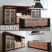 scavolini baccarat kitchen 3d model