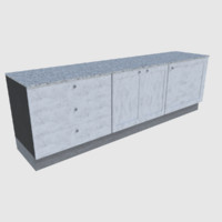 3d ready cabinet - games model