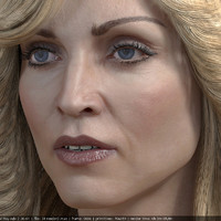 3d model Madonna singer head photorealistic female