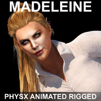 Madeleine (PhysX Animated Rigged)