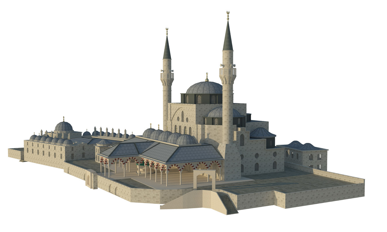 mihrimah sultan mosque 3d model