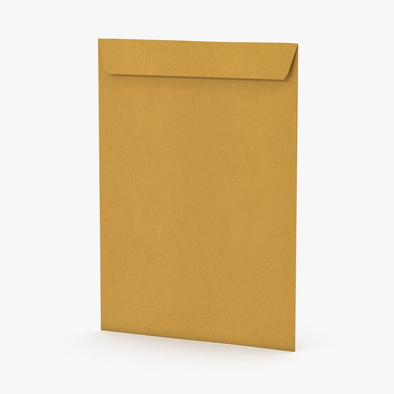 3d yellow envelope 02 model