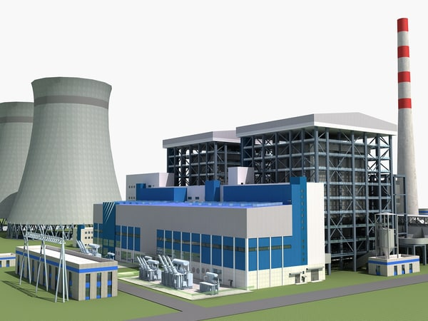 coal power station 3d max