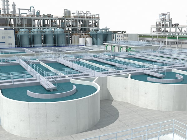 sewage water treatment scene 3d max