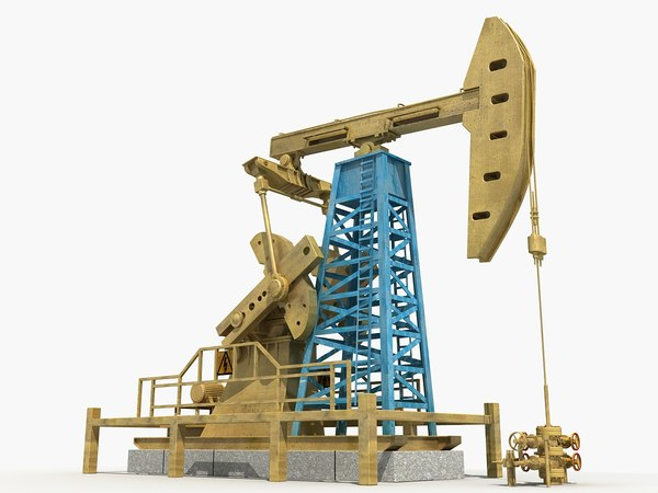 3d oil pump jack model