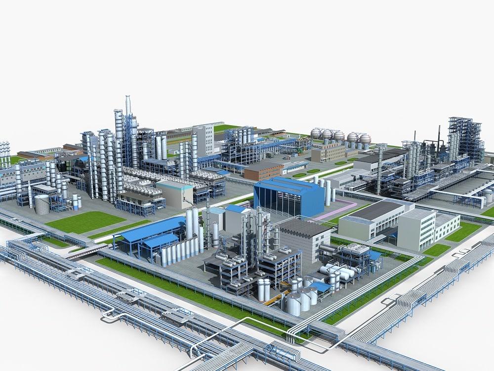 3d mega refinery model