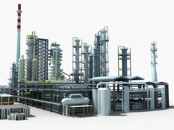 refinery unit 3d max