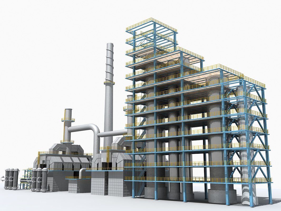 3d model plant factory