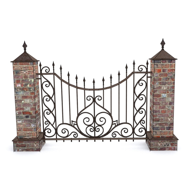 3ds wrought fence