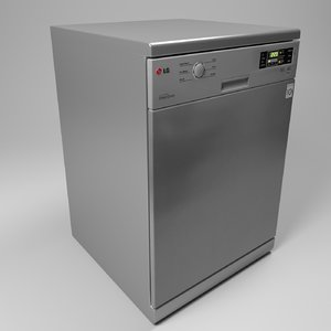 lg dishwasher 3d model