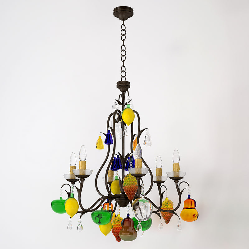 chandelier 3d fbx
