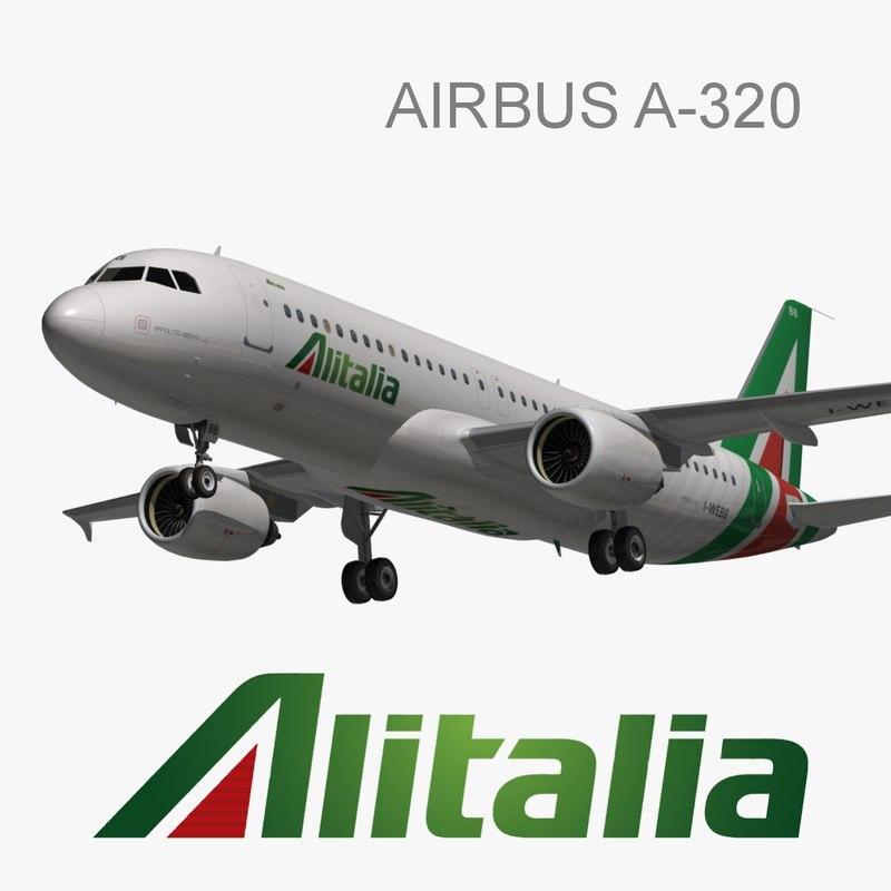 airbus a320 alitalia 3d model