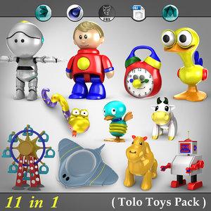 3d model 11 1 tolo toys