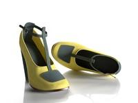 chunky heels 3d x