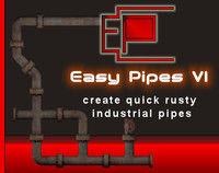 3d model easy pipes v1