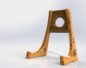 solidworks guitar stand 3d model