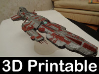 Stargate Aurora battleship 3D-printable kit