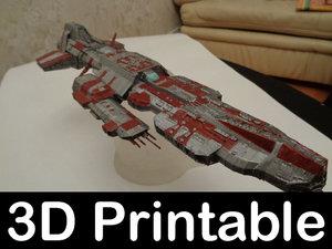 3d 3d-printable kit aurora battleship model