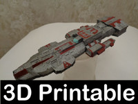 Stargate Atlantis Ancient Cruiser 3D-printable kit