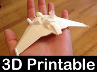 3d 3d-printable kit f302 fighter