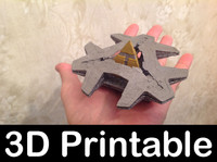 3d model 3d-printable kit hatak spaceship
