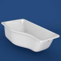 3d bathtub ravak happy model