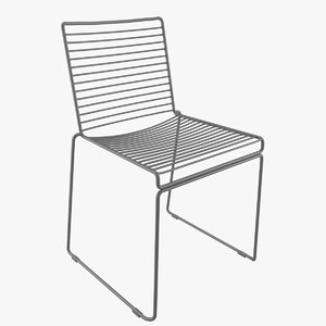 chair metal hee 3d model