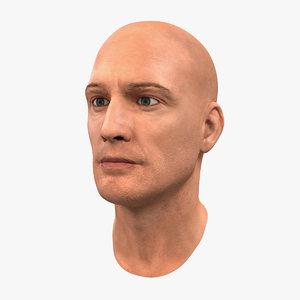 3d model male head 6