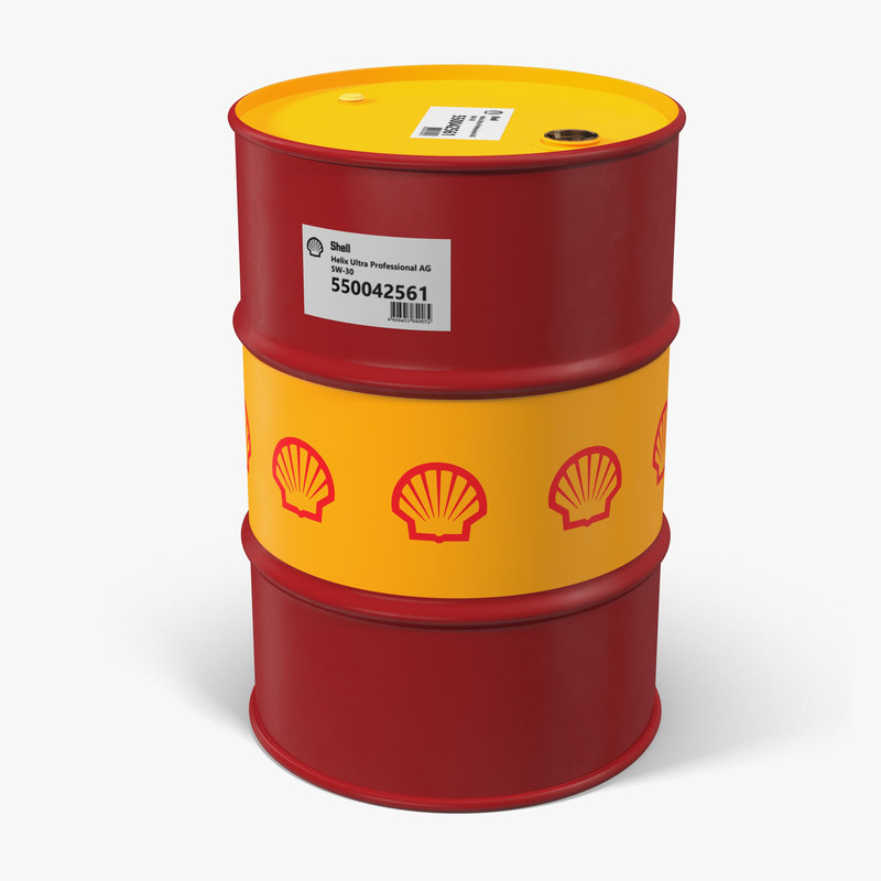 3d model of oil barrel shell